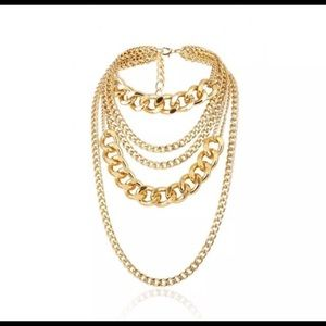 Bohemian Gold tone necklace